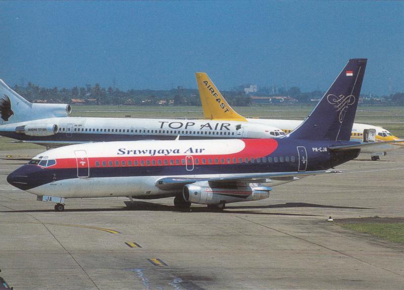 SRIWIJAYA AIR, Boeing 737-284, unused Postcard