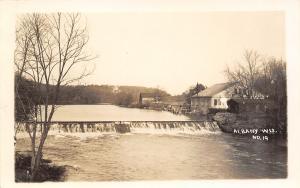 Albany Wisconsin~AHS Mfg Co~Farm Door Latch Factory~Sugar River Dam~c1918 RPPC