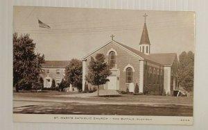 Postcard St Mary's Catholic Church New Buffalo Michigan Unposted 19