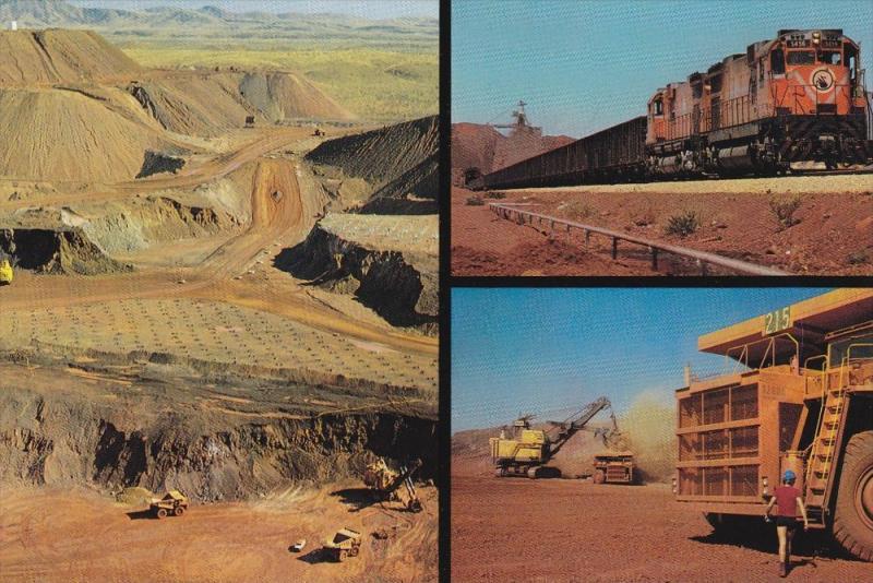 3 Views of Mining w/ Train in Australia