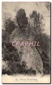 Old Postcard Forest of Fontainebleau The riquet has the Tuft Gorges du Houx