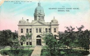Vintage Postcard Kearney County Courthouse Minden NE Nebraska