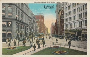 CLEVELAND, Ohio , 1900-10s; Euclid Avenue, East from Public Square, Trolley