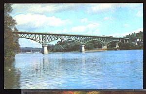 USA Postcard Toll Bridge Over the Kennebec River Augusta Maine