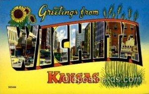 Wichita, Kansas Large Letter Town Unused