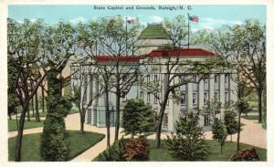 Raleigh, North Carolina, NC, State Capitol & Grounds, Vintage Postcard g780