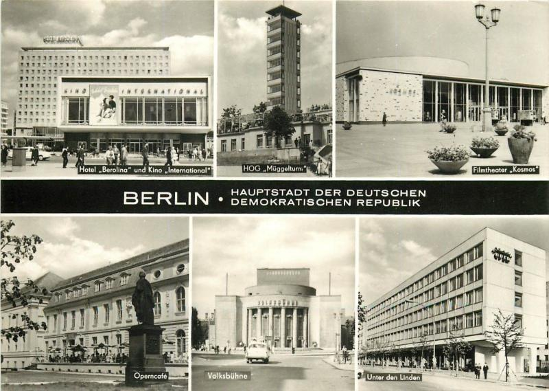 Germany Berlin DDR multi view postcard