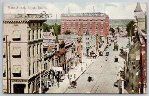 Boise Idaho~State Bank on Main Street~Alexander~Hot Sulphur Water~c1910 Postcard