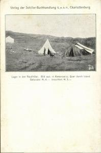 iceland, Camp at the Rauðhólar (1910s)