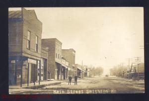 RPPC SMITHTON MISSOURI DOWNTOWN MAIN STREET SCENE REAL PHOTO POSTCARD MO.3634