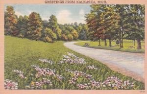 Michigan Greetings From Kalkaska 1950