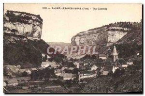 Old Postcard Baume les Messieurs Jura Vue Generale
