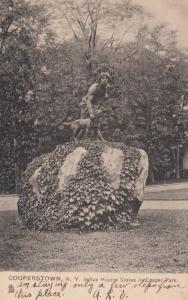 COOPERSTOWN , New York , 1909 ; Indian Hunter Statue ; TUCK 6244
