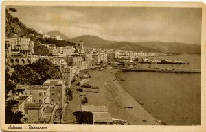 Italy - Salerno. Panoramic View.  (Passed Naval Censor)