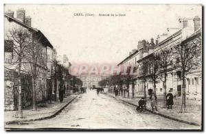 Old Postcard Creil Avenue Station