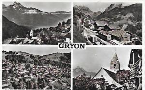Gryon, Switzerland. Beautiful black and white. Trolley, Church, Panorama