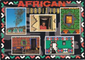 Decorated huts , South Africa , PU-1994