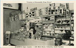 SC - Columbia. Eckerd's Drug Store, Cigar Counter