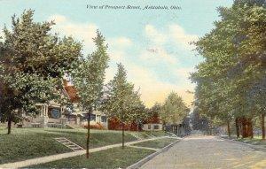 P1829 1910 pc view of peospect street ashtabula ohio