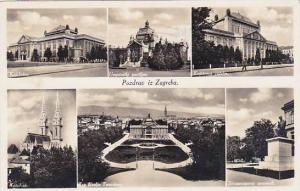 Yugoslavia Slovenija Pzdrav iz Zagreba Multi View Real Photo