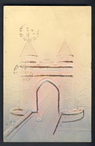 Embossed Hartford, Conn/CT Postcard, Memorial Arch, 1906!