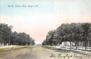 Sanger California~Dr Trembly's House Behind Ranch Fence~Dirt 6th Street~c1910
