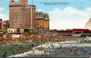 New Jersey Atlantic City St Charles and Breakers Hotels 1951