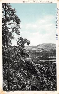 Meno Arkansas~Mountain Ranges Overlook~1936 Blue Sky Postcard