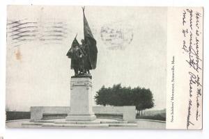 Somerville MA Soldiers Monument Civil War 1909 Flag Cancel