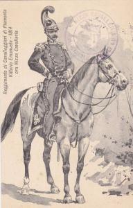 Military Man On A Horse,Reggimento Di Cavalleggieri Di Piemonte Vittorio Eman...