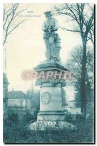 Old Postcard Sens Statue of Jean Cousin