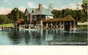RI - Providence.  Roger Williams Park, Boat House