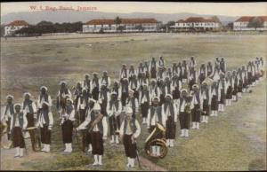 Jamaica WI Regiment Music Band c1910 Postcard #1 EXC COND