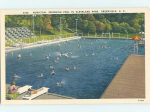 Linen SWIMMING POOL SCENE Greenville South Carolina SC AF2441