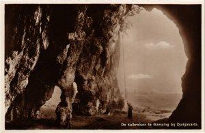 CPA INDONESIA De kalkrotsen te Gamping bij Djokjakarta (341271)