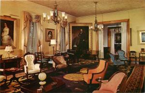 Rutherford B. Hayes Residence Fremont Ohio Spiegel Grove Postcard Drawing Room
