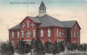 Gaylord Minnesota~High School~Swan Boreen Publisher~Handcolored 1908 Postcard