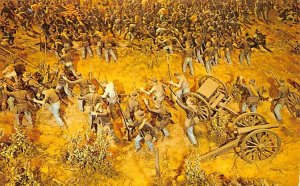 Cyclorama painting at the Battle of Atlanta Atlanta, Georgia, USA Civil War P...