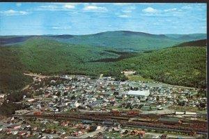 Ontario ~ Aerial SCHREIBER highway 17 between Nipigon and Terrace Bay 1950-1970s