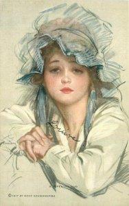 C-1910 Young woman ripening bud Good Housekeeping #868 Postcard 21-10427