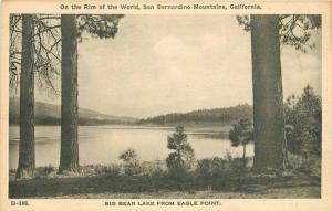 Big Bear Lake Eagle Point California San Bernardino Rim 1920s Postcard 3432