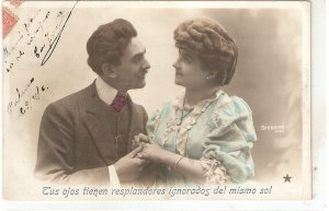 Couple. Romance. The promise Nice old vintage French postcard