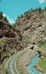 Clear Creek Canyon, CO, Tunnel on Highway U.S. 6, 1967 Vintage Postcard g8393