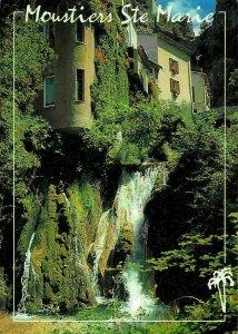 France Moustiers Sainte Marie Alpes de Haute Provence Waterfall Postcard