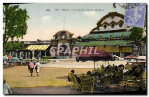 Old Postcard Vichy Casino & Gardens