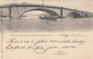 London Bridge from Old Swan Pier, UK , 1901-07 ; TUCK