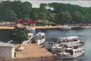 Boats at the Harbor, Havnen, Silkeborg, Denmark, PU-1969