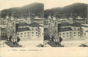 Postcard Stereographic image Austria Tirol peisage Salzburg