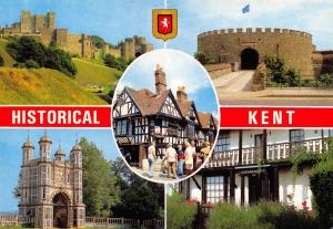 Postcard Historical Kent Multi View by Elgate Products L85
