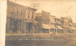 Prairie du Sac WI Dirt Street Post Office Store Fronts RPPC Postcard